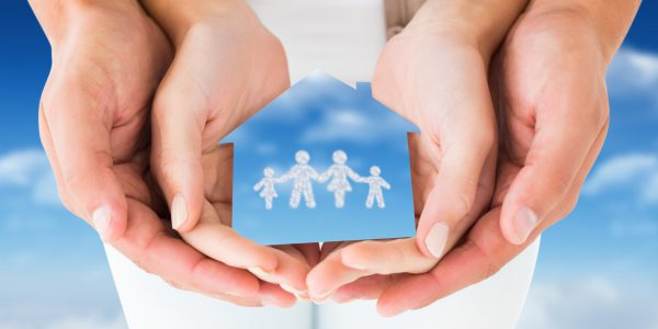 composite of couple hands holding family graphic